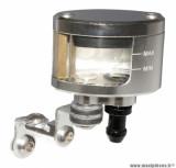 Réservoir de maitre cylindre de frein universel ovale alu CNC argent (sortie dessous verticale)