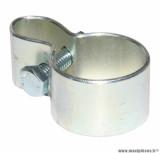 Collier pontet de garde boue avant gris pour cyclomoteur peugeot 103 mvl