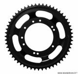Couronne roue alu grimeca 56 dents (alesage 98mm) 10 trous noir pour cyclomoteur peugeot 103