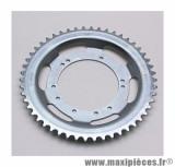 Couronne roue batons acier 50 dents (alesage 94mm) 10 trous pour cyclomoteur peugeot 103