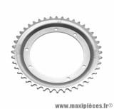 Couronne 44 dents (diamètre 110) 6 trous pour cyclomoteur mbk 65, 85