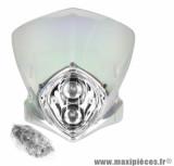Tête de fourche duke 2x20w transparent iridium pour moto