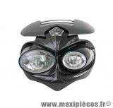 Tête de fourche carbone fly eyes (homologué CE) pour moto