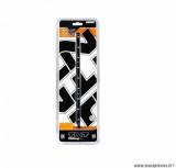 Bande autocollants leds 25cm blanc fond noir