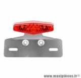 Feu arrière diamant rouge + support de plaque homologué