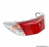 Feu arrière avec clignotants rouge (homologué CE) pour maxi scooter 125cc yamaha cygnus x / mbk flame x après 2007