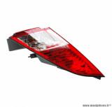 Feu arrière arrière gauche rouge avec clignotant (homologué CE) pour maxi scooter 125-250-400-500cc peugeot satelis après 2007