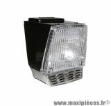 Phare complet avec lampe 15w noir pour cyclomoteur mbk 88, 881, 51, 41