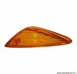 Cabochon clignotant avant droit orange (homologué CE) pour maxi scooter 125cc honda sh 2001>2002