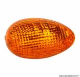 Cabochon clignotant avant droit orange (homologué CE) pour scooter 50cc kymco people 2000>2004 / maxi-scooter 125cc kymco people 1999>2000