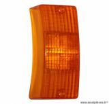 Cabochon clignotant avant gauche / droit orange (homologué CE) pour maxi scooter 125cc piaggio vespa px après 2001