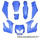 Kit carrosserie carénage bleu pour 50 a boite derbi senda drd x-treme x-race 1994 à 2010 (8 pièces)