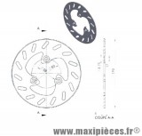 Disque de frein avant diamètre 190 mm pour piaggio typhoon nrg jusqu'à 1999 piaggio ntt ...