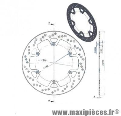 Disque de freins avant diamètre 290 pour aprilia rs 50 jusqu'à 1998 ...