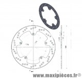 Disque de freins avant diamètre 280 pour aprilia rs après 1999 yamaha tzr après 2003 ...