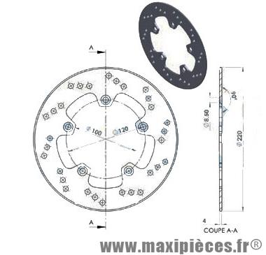 disque de freins arrière diamètre 220 pour aprilia rs après 1999 ...