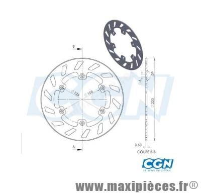disque de freins avant diamètre 220 pour peugeot xp6 jusqu'à 2001 ...