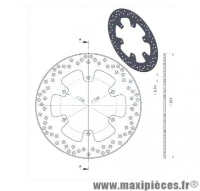 disque de freins avant diamètre 282 pour mbk x power yamaha tzr jusqu'à 2002 ...