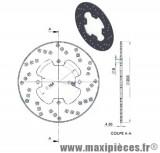Disque de frein arrière diamètre 203 pour mbk x power yamaha tzr 50 jusqu'à 2002 ...