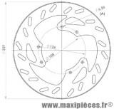 Disque de frein avant diamètre 260 pour derbi senda r-sm après 2002 derbi senda drd r-sm après 2003 ...