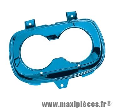 Prix discount ! Cache/entourage optique bleu anodisé pour mbk booster spirit/yamaha bw's jusqu'à 1998