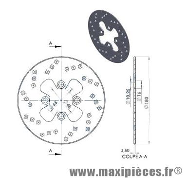 disque de frein avant diamètre 180 mm pour booster 2004 spirit après 1999 ng jusqu'à 1998 rocket ...