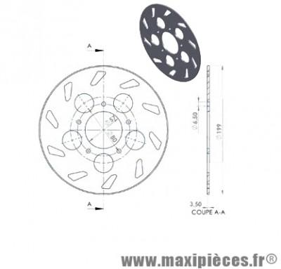 disque de freins arrière diamètre 199 pour rieju rs1 jusqu'à 2001 ...