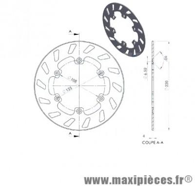 disque de freins avant diamètre 220 pour gilera gsm 50 ...