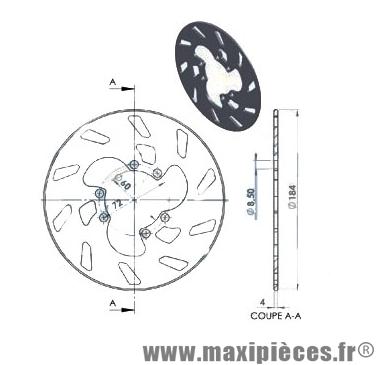 disque de freins arrière diamètre 184 pour gilera gsm 50 ...