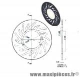 Disque de freins avant diamètre 240 pour mbk x limit yamaha dt 50 r après 2003 ...