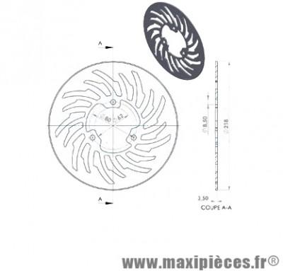 Disque de frein arrière diamètre 218 pour mbk x limit yamaha dt 50 r après 2003 ...