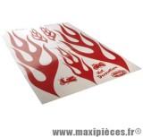 Déstockage ! Autocollant flammes rouge (50x35cm)