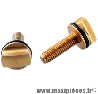Vis de réglage pour fourche doppler anodisé or + 2 joints .