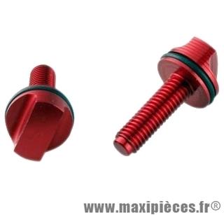 Vis de réglage pour fourche doppler anodisé rouge + 2 joints .