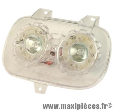 Prix discount ! Phare halogène transparent double optique+leds pour mbk booster spirit/yamaha bw's 1999-> 2003