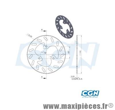 disque de frein avant diamètre 190 mm pour aprilia sr50 mbk ovetto stunt arrière aprilia sr50 ...