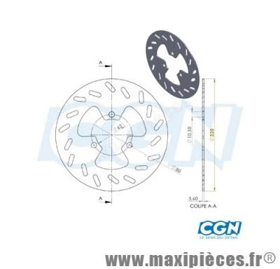 disque de freins arrière diamètre 218 pour derbi senda drd ...