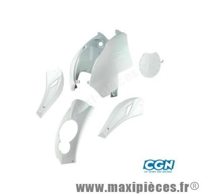 Kit carrosserie carénage blanc pour peugeot ludix (compteur rectangle) (5 pièces)