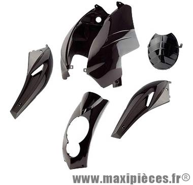 Kit carrosserie carénage noir pour peugeot ludix (compteur rectangle) (5 pièces)