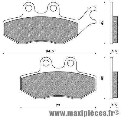 Plaquette frein av adaptable rieju rs2 matrix 2004