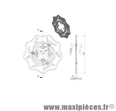 disque de freins polini flottant diamètre 180 pour mbk booster 2004 ...