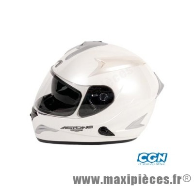 casque integral astone gtb blanc  xl (double ecran)