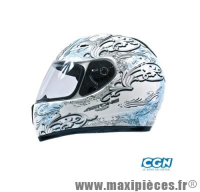 casque integral astone gto graphicsharon  blanc/bleu s