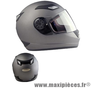 casque integral chok fighter 11 uni gris titane anti-scratch s
