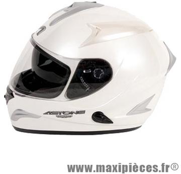 casque integral astone gtb blanc taille L 59-60 cm double ecran
