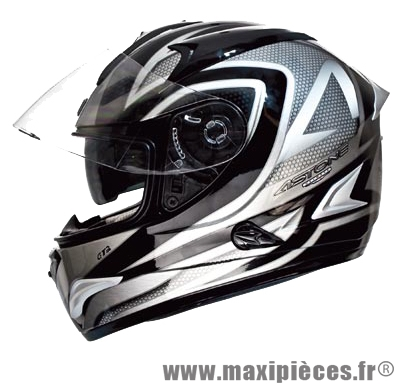 casque integral astone gtb exclusive metallic  noir/gris    l (doubleecran)