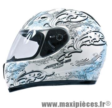 casque integral astone gto graphicsharon  blanc/bleu s