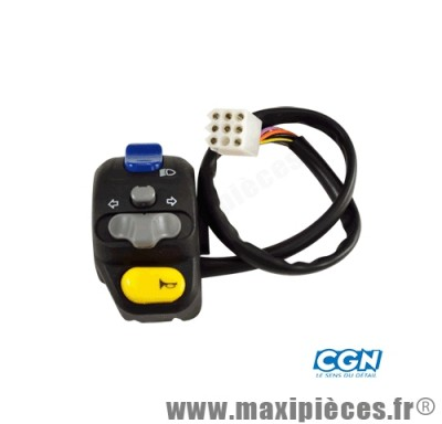 commutateur/commodo gauche adaptable peugeot speedfight trekker vivacity xp6 xr6 rieju rs1/2