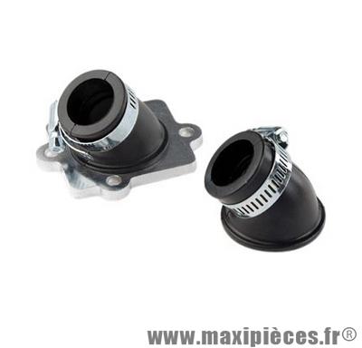 Pipe admission angle reglable pour carburateur 50cc de 12 a 21 mm:mbk nitro ovetto neos jog mach-g yamaha aerox f12 aprilia rally sr50 malaguti f15 ...
