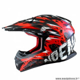Casque cross enfant marque NoEnd Cracked taille YS couleur rouge